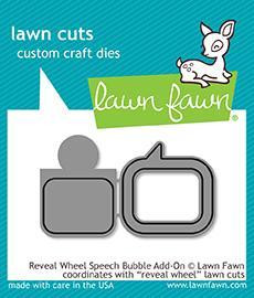 Lawn Fawn - Reveal Wheel Speech Bubble Add-On, Stanssisetti
