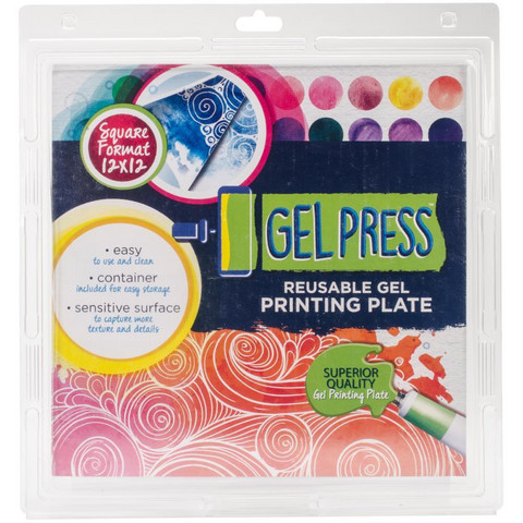 Gel Press Reusable Printing Plate 12''x12''