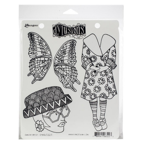 Dylusions - Cling Stamp Collections, Sunday Best