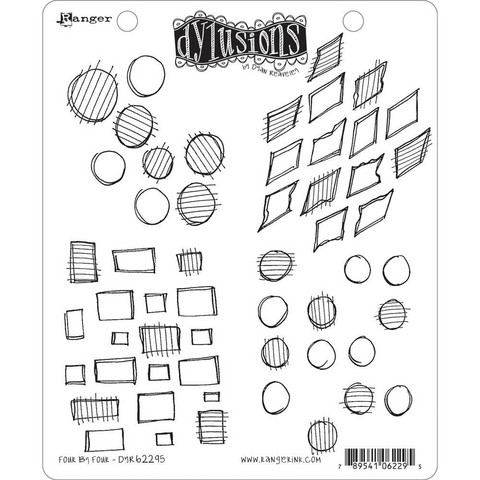 Dylusions - Cling Stamp Collections, Four By Four