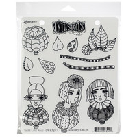 Dylusions - Cling Stamp Collections, Three Little Maids