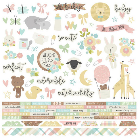 Simple Stories - Oh Baby! Cardstock Stickers 12