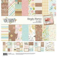 Simple Stories - Simple Stories Collection Kit, Oh Baby!, 12