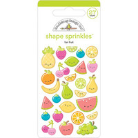 Doodlebug - Sprinkles Adhesive Glossy Enamel Shapes, Fun Fruit, 27 osaa
