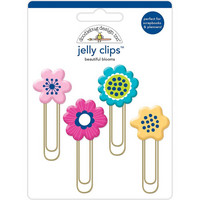 Doodlebug - Jelly Clips, Beautiful Blooms, 4 kpl