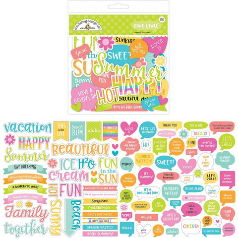Doodlebug - Odds & Ends Die-Cuts, Sweet Summer Chit Chat, 92 osaa
