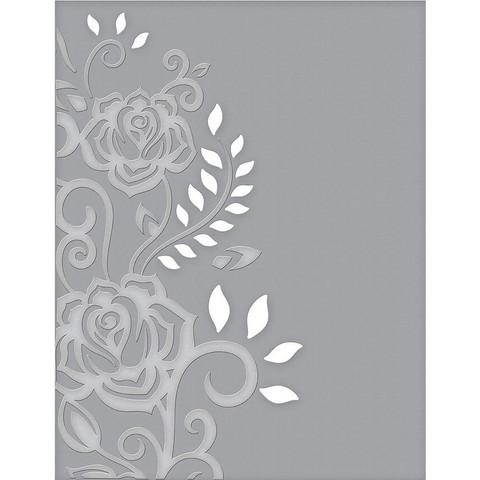 Spellbinders - Cutting Embossing Folders, Rose Flourish