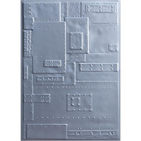 Sizzix - 3D Texture Fades Embossing Folder By Tim Holtz, Kohokuviointitasku, Foundry