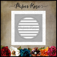 Paper Rose - Circle With Lines, Stanssi