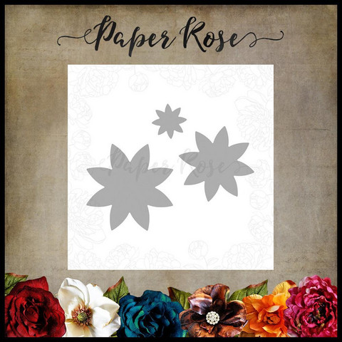 Paper Rose - Flower Set 4, Stanssisetti