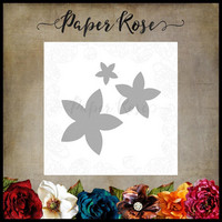 Paper Rose - Flower Set 5, Stanssisetti
