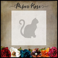 Paper Rose - Sitting Cat Large, Stanssi