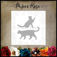 Paper Rose - Walking Cat, Stanssisetti