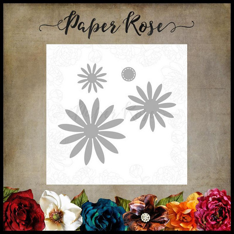 Paper Rose - Flower Set 1, Stanssisetti