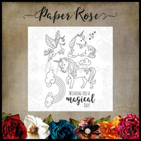 Paper Rose - Unicorn Magic, Leimasetti