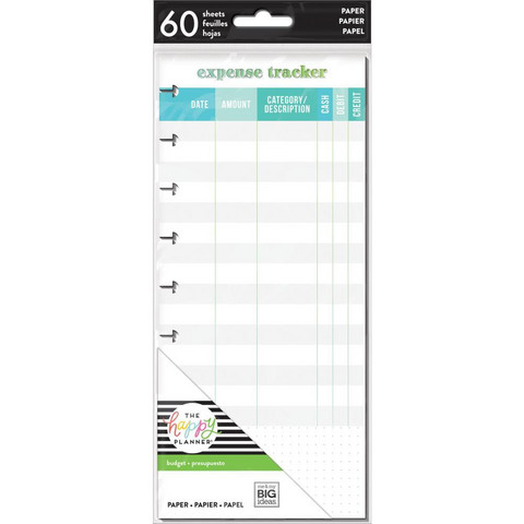 MAMBI - CLASSIC, Expense Tracker Half Sheet, Sivusetti