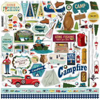 Carta Bella - Gone Camping Cardstock Stickers 12