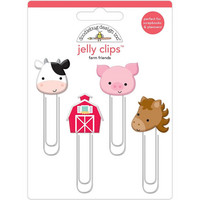 Doodlebug - Jelly Clips, Down On The Farm, 4 kpl