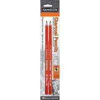 General`s - Charcoal Pencils 6B, 2 kpl