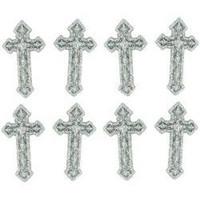 Dress It Up - Silver Crosses, Koristenappisetti