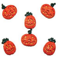Dress It Up - Glitter Pumpkins, Koristenappisetti