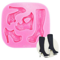Silikonimuotti, High Heel Shoes & Boot