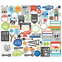 Simple Stories - Lil' Dude Bits & Pieces Die-Cuts, 66kpl