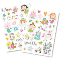 Simple Stories - Dream Big Puffy Stickers, Tarrasetti, 2 arkkia