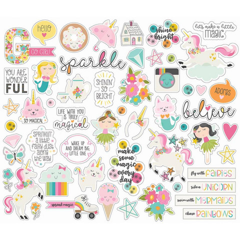 Simple Stories - Dream Big Bits & Pieces Die-Cuts, 55kpl