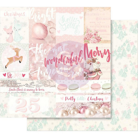 Prima Marketing - Santa Baby Pink Foil, Pretty Little Christmas, 12