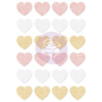 Prima Marketing - Santa Baby Glitter Stickers, Hearts, Tarrasetti