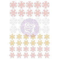 Prima Marketing - Santa Baby Glitter Stickers, Snowflakes, Tarrasetti