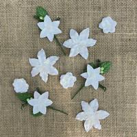 49 and Market - Stargazers, Simply White, Paperikukkasetti