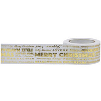 Little B -  Merry Christmas Word Play Foil Kraft Decorative Tape, 25mmx10m