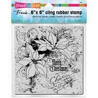 Stampendous - Cling Stamps, Poinsettia Collage