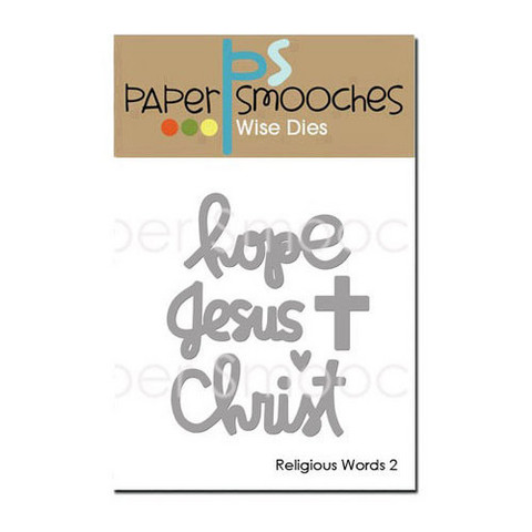Paper Smooches - Stanssisetti, Religious Words 2-Hope, Jesus, Christ