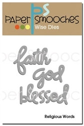 Paper Smooches - Stanssisetti, Religious Words-Faith, God, Blessed