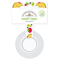 Doodlebug - Washi Tape, Taco-Bout Fun, 15mmX11m