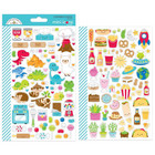 Doodlebug - Mini Cardstock Stickers, So Much Pun Icons, 2 arkkia