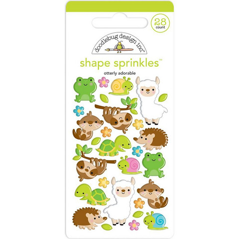 Doodlebug - Sprinkles Adhesive Glossy Enamel Shapes, Otterly Adorable, 28 osaa