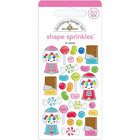 Doodlebug - Sprinkles Adhesive Glossy Enamel Shapes, So Sweet, 30 osaa