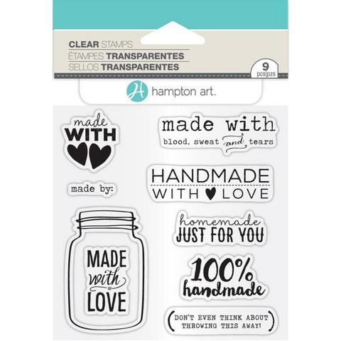 Hampton Art - Clear Stamps, Made With Love