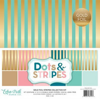 Echo Park - Gold Foil Stripes, 12
