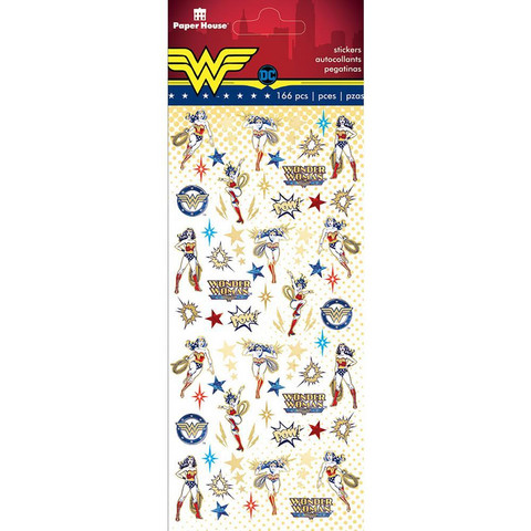 Paper House - Micro Stickers, Wonder Woman, Tarrasetti