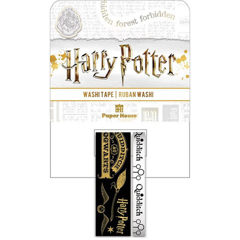 Paper House - Washi Tape, Harry Potter, Quidditch, Teippisetti, 2 rullaa