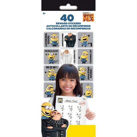 Tarrasetti - Teacher Reward Stickers, Despicable Me3, 4 arkkia