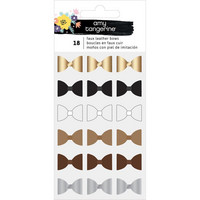 Amy Tangerine - Shine On Mini Faux Leather Bows, Rusetit, 18 kpl
