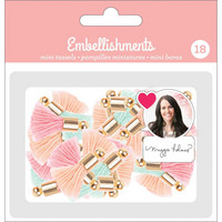 American Crafts - Mini Tassels, Tasselisetti, 18 kpl