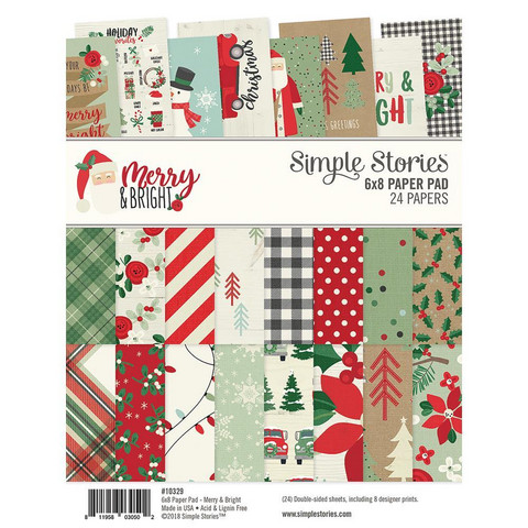 Simple Stories - Paperikko, Merry & Bright, 6''x8'', 24sivua
