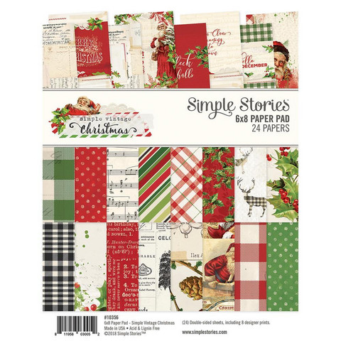 Simple Stories - Paperikko, Simple Vintage Christmas, 6''x8'', 24sivua